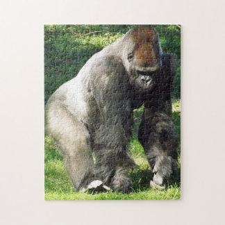 Gorila masculino de la tierra baja del Silverback  Puzzle