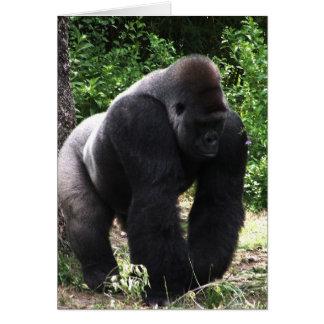 Gorila masculino down.jpg principal que camina del tarjeta de felicitación
