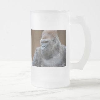 Gorila masculino taza de cristal
