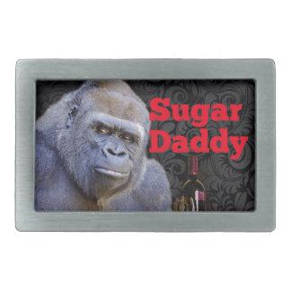 Gorila negro del damasco del amante obsequioso hebillas cinturón rectangulares