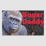 Gorila negro del damasco del amante obsequioso rectangular pegatinas