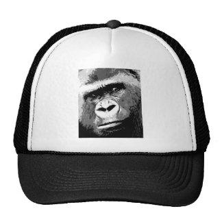Gorila negro y blanco gorros