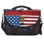 Gorila patriótico conocido personalizado bolsas de portátil