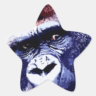 Gorila Pegatina En Forma De Estrella