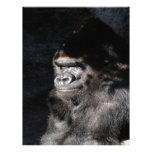 Gorila pensativo membrete a diseño