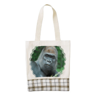 Gorila perplejo bolsa tote zazzle HEART
