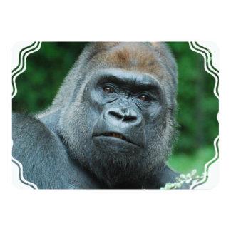 """Gorila perplejo invitación 5"""" x 7"""""""
