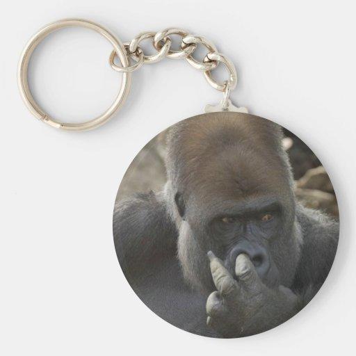 ¡gorila que escoge su nariz - eeeewwwwwwww! llavero redondo tipo pin