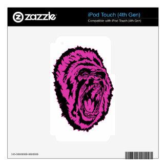 Gorila rosado calcomanía para iPod touch 4G