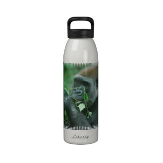 Gorila Snacking Botellas De Beber