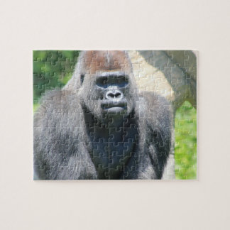 Gorila trasero de la plata rompecabeza