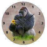 Gorila y margarita amarilla relojes