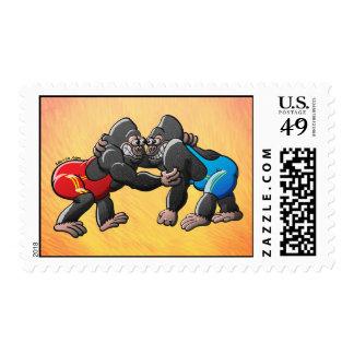 Gorilas de lucha franqueo