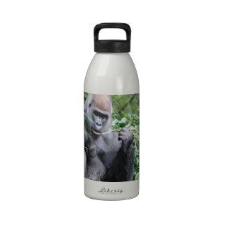 gorilas del silverback botella de beber
