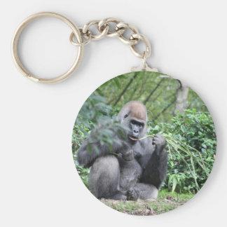 gorilas del silverback llavero personalizado
