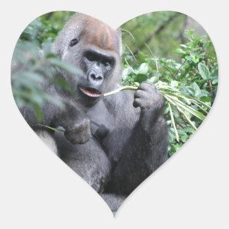 gorilas del silverback pegatina corazon personalizadas