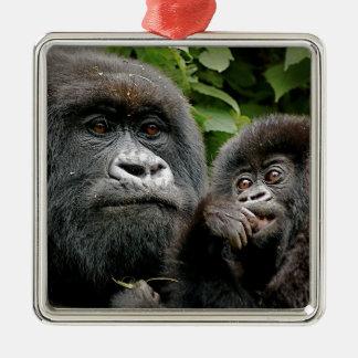 Gorilas del Ugandan Ornamento Para Reyes Magos