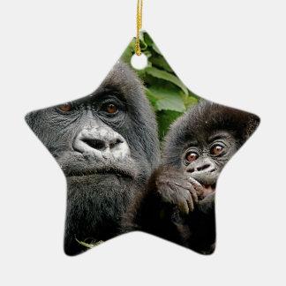 Gorilas del Ugandan Ornamentos De Reyes Magos