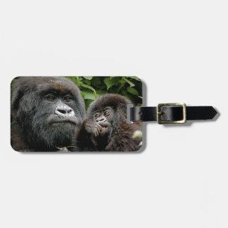 Gorilas del Ugandan Etiquetas De Maletas