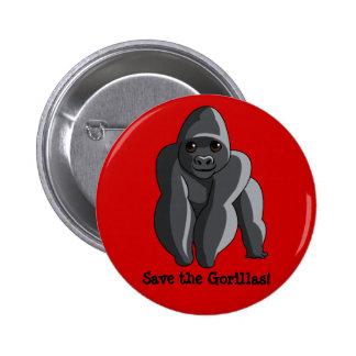 Gorilas Pin Redondo De 2 Pulgadas
