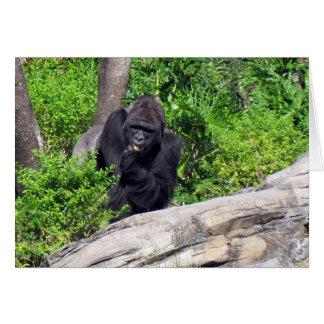 Gorilla (0533) Greeting Card