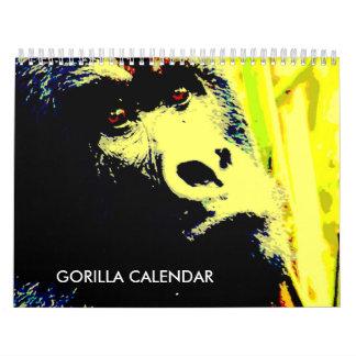 Gorilla 2017 calendar