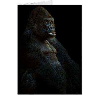 gorilla-625286 THOUGHTFUL GORILLA WILD ANIMAL DIGI Greeting Card