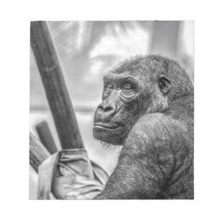 Gorilla-66581 triste bloc de papel