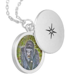 gorilla 715 round locket necklace