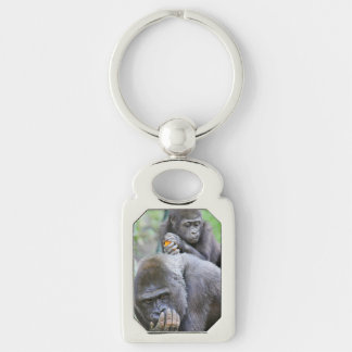 Gorilla and Baby Keychain