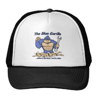 Gorilla and crash test dummy design trucker hat