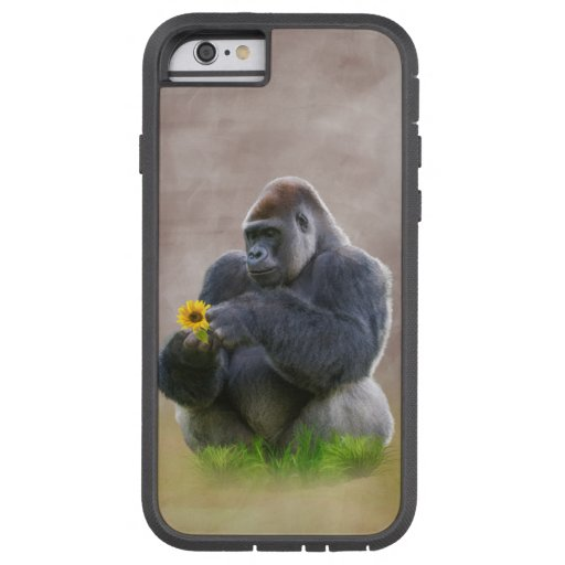 Gorilla and Yellow Daisy iPhone 6 Case