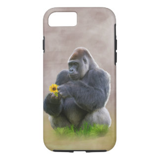 Gorilla and Yellow Daisy iPhone 8/7 Case