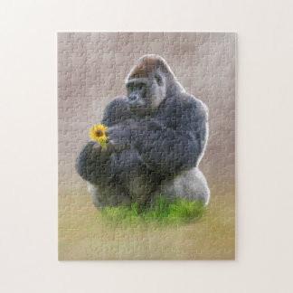 Gorilla and Yellow Daisy Puzzle