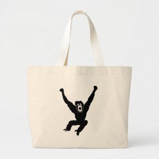 gorilla ape affe monkey chimp crazy orang utan bolsa de mano