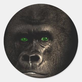 Gorilla Ape Monkey Classic Round Sticker