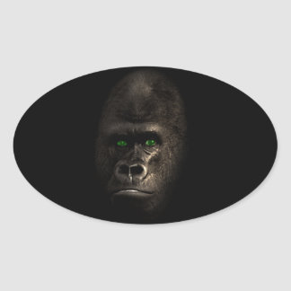 Gorilla Ape Monkey Oval Sticker
