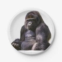 Gorilla Ape Monkey Paper Plate