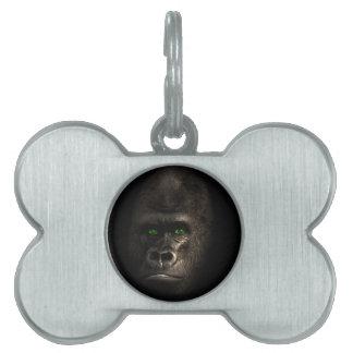 Gorilla Ape Monkey Pet Name Tag