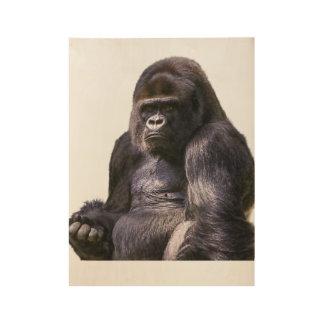Gorilla Ape Monkey Wood Poster