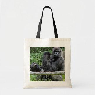 Gorilla Ape Primate Wildlife Animal Photo Budget Tote Bag