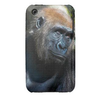 Gorilla Ape Primate Wildlife Animal Photo Case-Mate iPhone 3 Cases