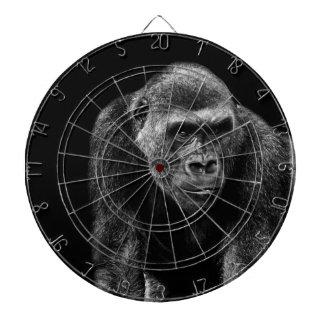 Gorilla Ape Primate Wildlife Animal Photo Dartboard With Darts