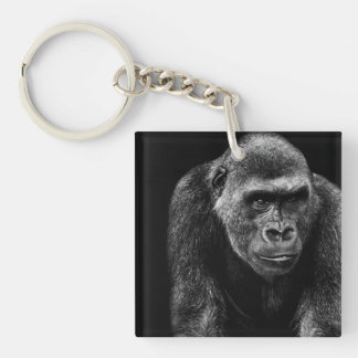 Gorilla Ape Primate Wildlife Animal Photo Keychain