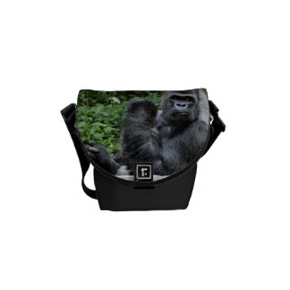 Gorilla Ape Primate Wildlife Animal Photo Messenger Bags