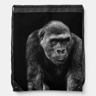 Gorilla Ape Primate Wildlife Animal Photo Drawstring Bags