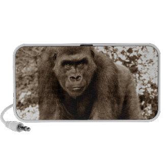 Gorilla Ape Primate Wildlife Animal Photo Notebook Speaker