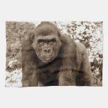 Gorilla Ape Primate Wildlife Animal Photo Towel