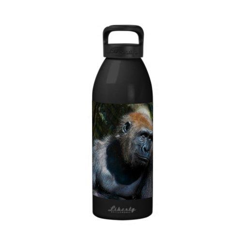 Gorilla Ape Primate Wildlife Animal Photo Reusable Water Bottle