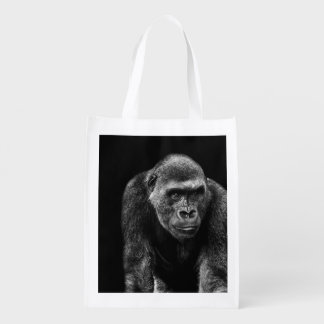 Gorilla Ape Primate Wildlife Animal Photo Reusable Grocery Bag